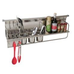 kitchen condiments utensils rack