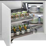 blind corner pull out kitchen storage solution