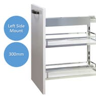 left side mounted underbench pull out storage