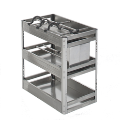 pull out kitchen cabinet organiser with dividers