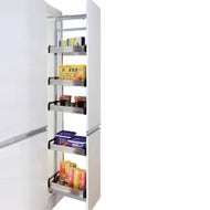 kitchen pantry organiser with pullout mechanism durable industrial baskets