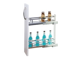 narrow 150mm under bench pull out cabinet 2 tier left side mount