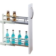 narrow 150mm under bench pull out cabinet 2 tier right side mount
