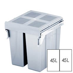 Pull Out Kitchen Bin Grey Side Mounted