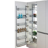 Open Out Pantry Chrome Baskets Door Baskets