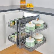 smooth slide out blind corner cupboard shelves