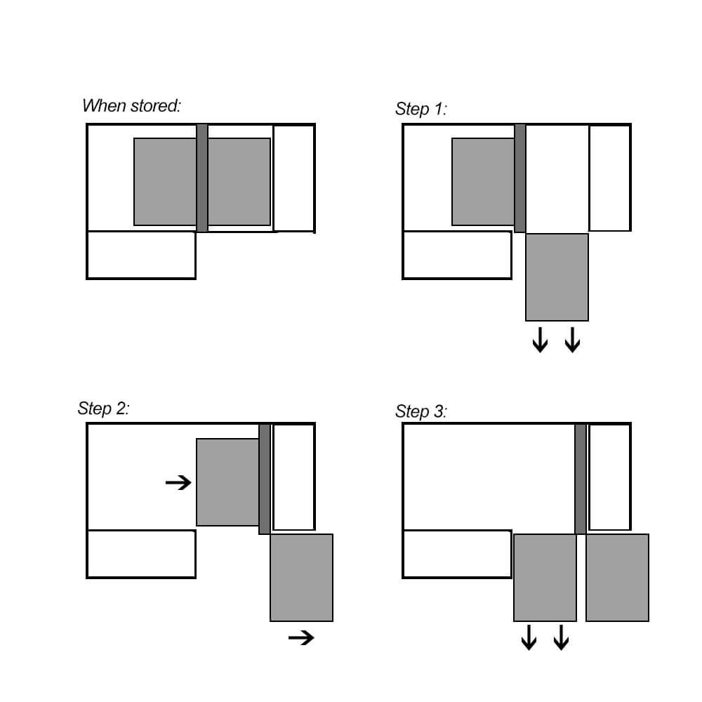 accessible storage shelf mechanism for underbench kitchen corner cupboards
