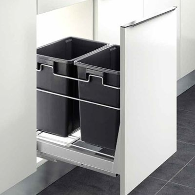 kitchen bin, garbage bin, concealed waste bin, double waste bin