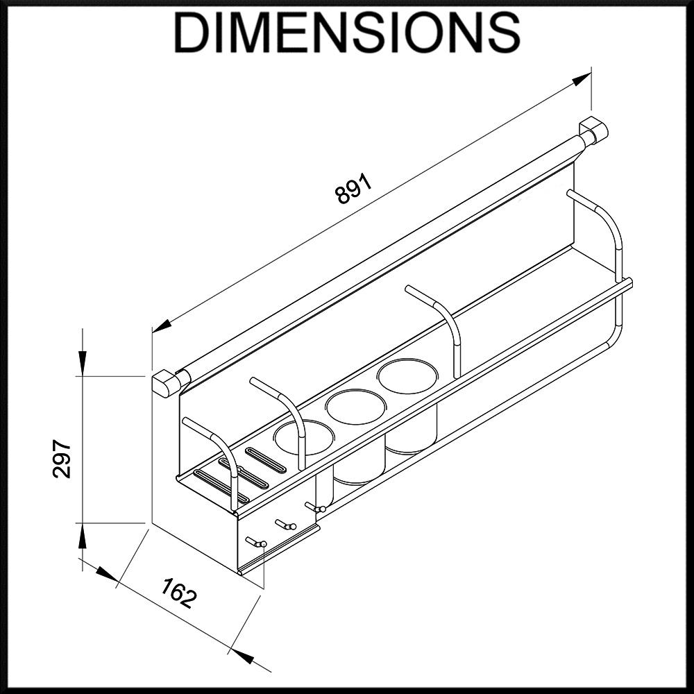 900mm wall storage dimensions